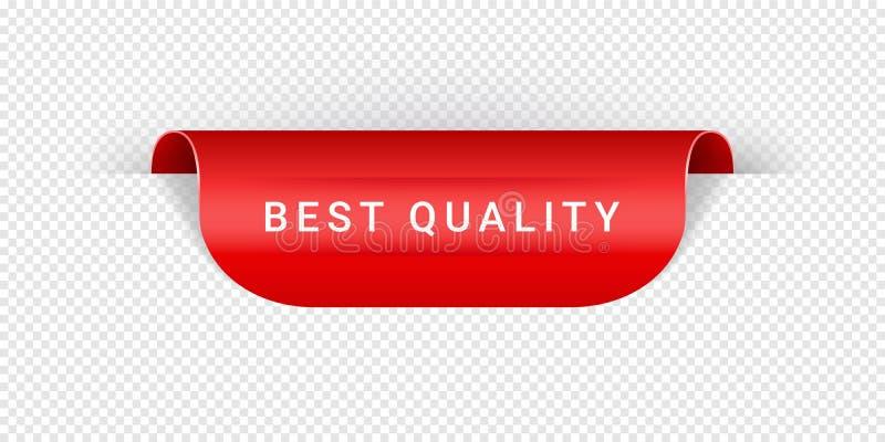 Den bästa kvalitets- realistiska röda origamin för för för för för för vektorklistermärke, etikett, baner, etikett, tecken eller  royaltyfri illustrationer