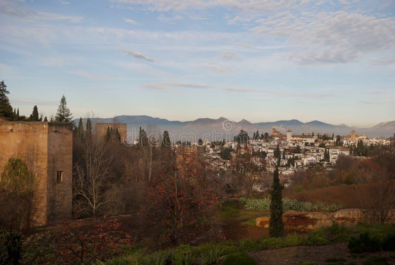 Den bästa sikten av Granada royaltyfri fotografi