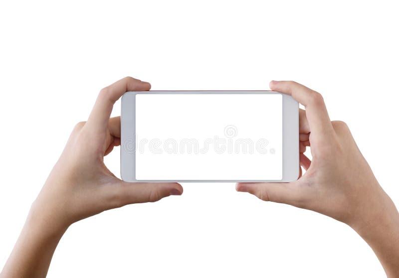 Den bästa sikten räcker att ta skottet med mobiltelefonkameran royaltyfria bilder