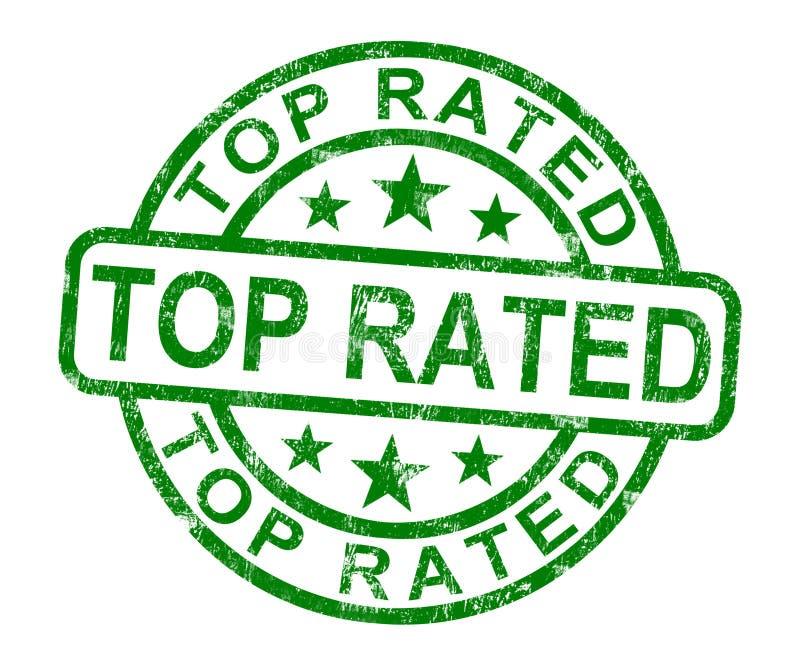 Den bästa värderade stämpeln visar mest bra service eller produkter stock illustrationer