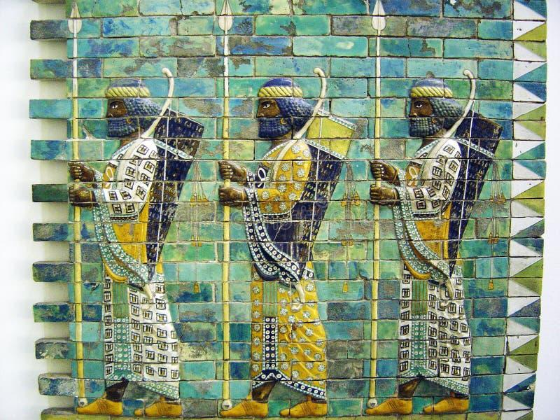 Den babylon väggen royaltyfria foton