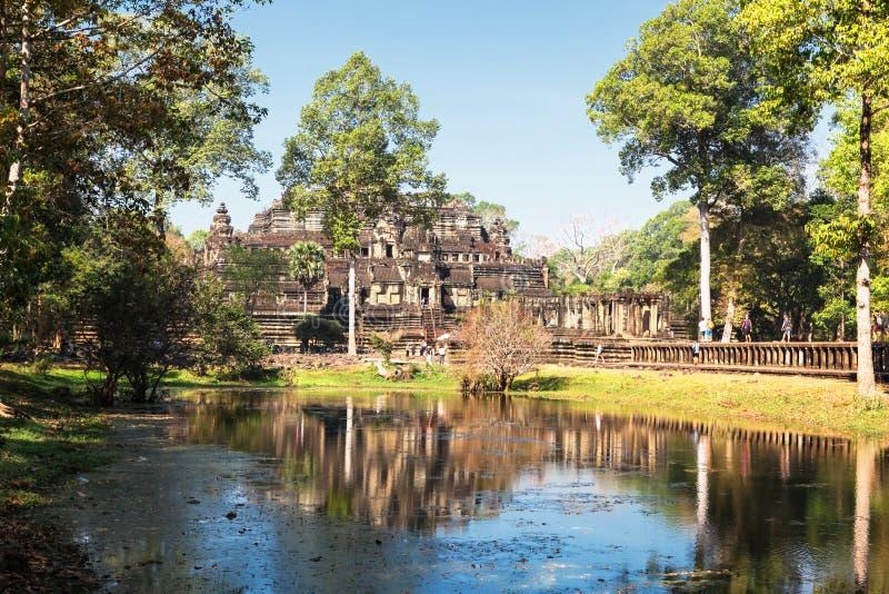 Den Baphuon templet på Angkor Wat Thom, Cambodja arkivfoto