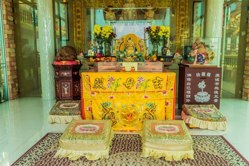 Den Bean Boo Thean templet p? floden i George Town Malaysia royaltyfri bild
