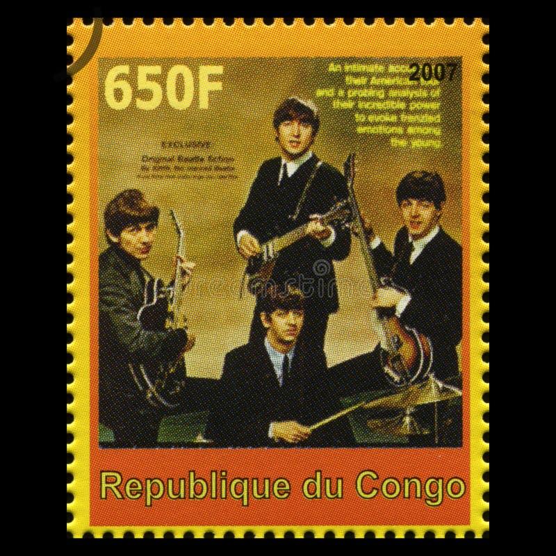 Den Beatles portostämpeln från Kongofloden royaltyfri bild