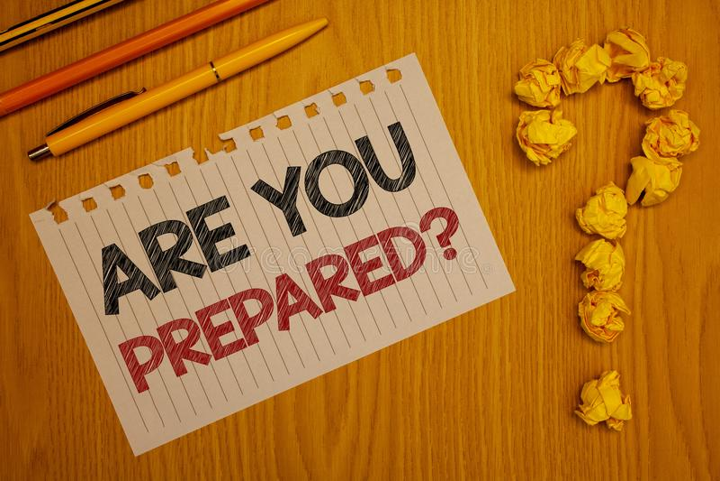 Den begreppsmässiga handhandstilvisningen är dig den förberedda frågan Utvärdering för bedömning för beredskap för beredskap för  royaltyfria foton