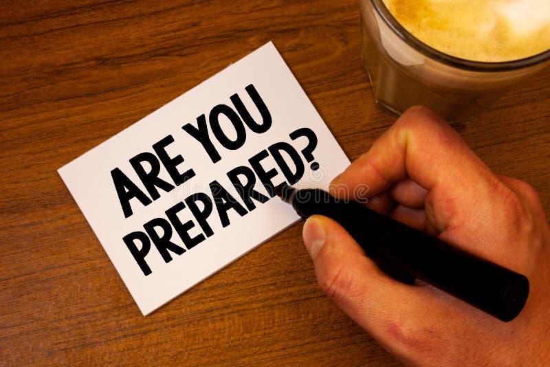 Den begreppsmässiga handhandstilvisningen är dig den förberedda frågan Utvärdering för bedömning för beredskap för beredskap för  royaltyfri bild