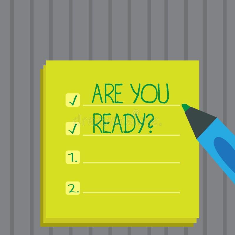 Den begreppsmässiga handhandstilvisningen är dig Readyquestion Att ställa ut för affärsfoto är förberedd motiverad varnad beredsk royaltyfri illustrationer