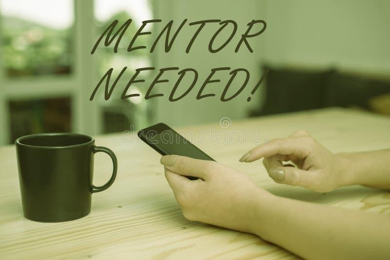 Den begreppsm?ssiga mentorn f?r handhandstilvisningen beh?vde Aff?rsfoto som s? st?ller ut anst?lldutbildning under h?g tilldelad royaltyfri fotografi