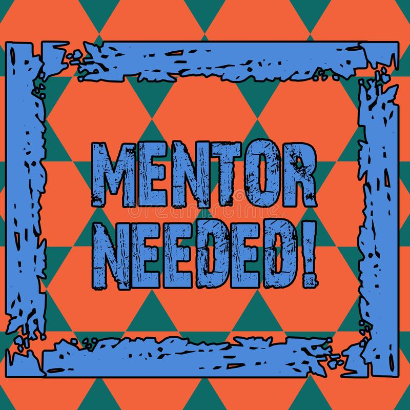 Den begreppsm?ssiga mentorn f?r handhandstilvisningen beh?vde Utbildning f?r anst?lld f?r aff?rsfototext under tilldelat h?gt age vektor illustrationer