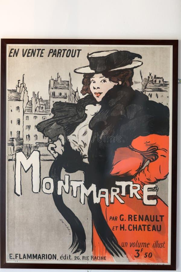 Den berömda affischen av Le Prata Noir royaltyfri fotografi