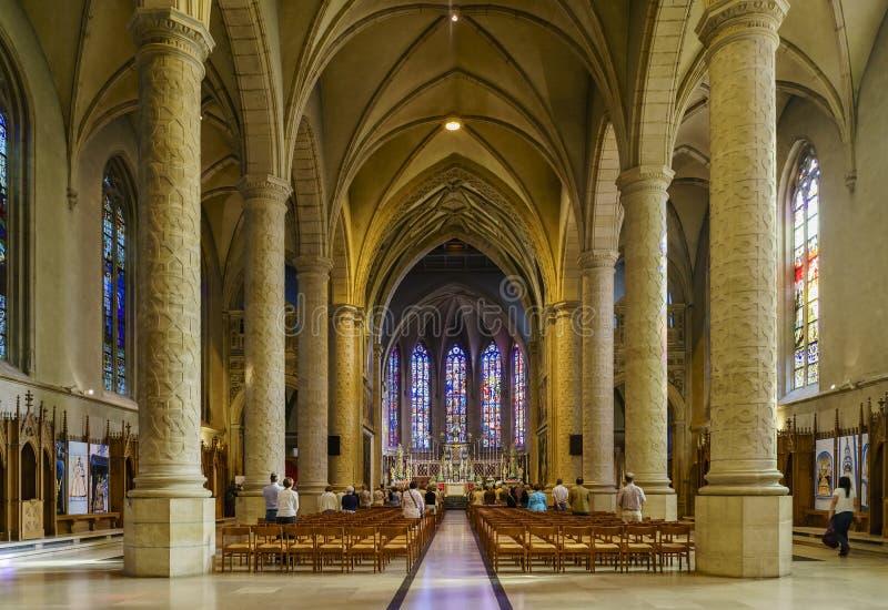Den berömda Cathedralen Notre-Dame arkivbilder