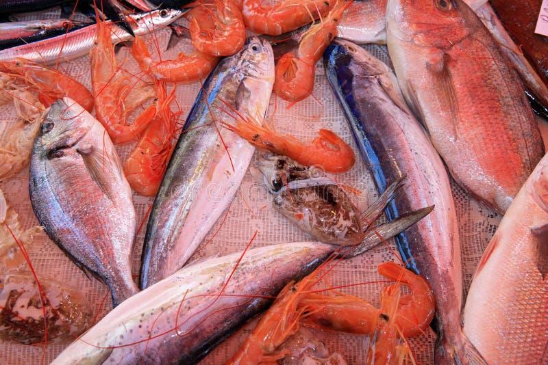 Den berömda Fishmarketen i Catania sicily italy royaltyfria bilder