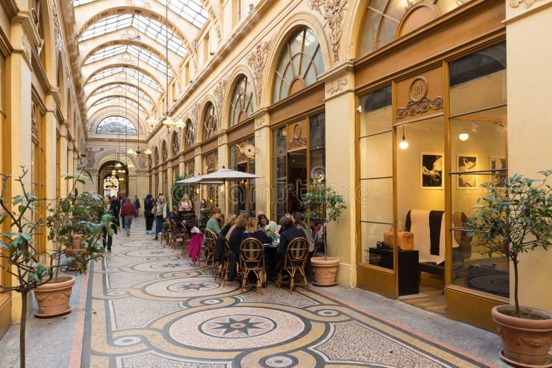 Den berömda Galerien Vivienne, Paris, Frankrike royaltyfria foton