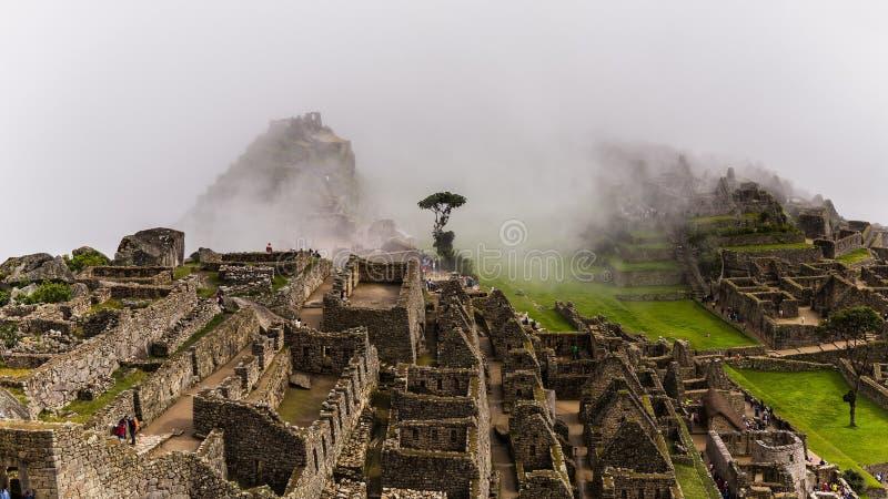 Den berömda incaen fördärvar av machupicchu i Peru arkivfoton
