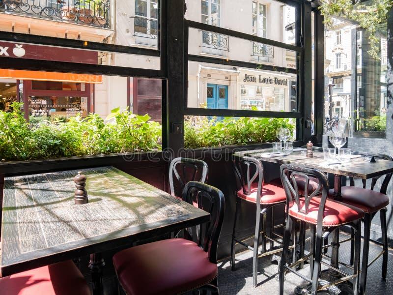 Den berömda L'Escargot Montorgueil restaurangen arkivbilder