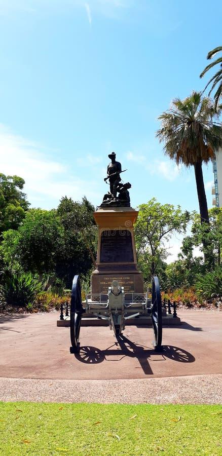 Den berömda monumentet i konungar parkerar - perth arkivbild
