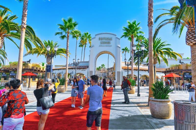 Den berömda världen parkerar Universal Studios i Hollywood royaltyfri foto