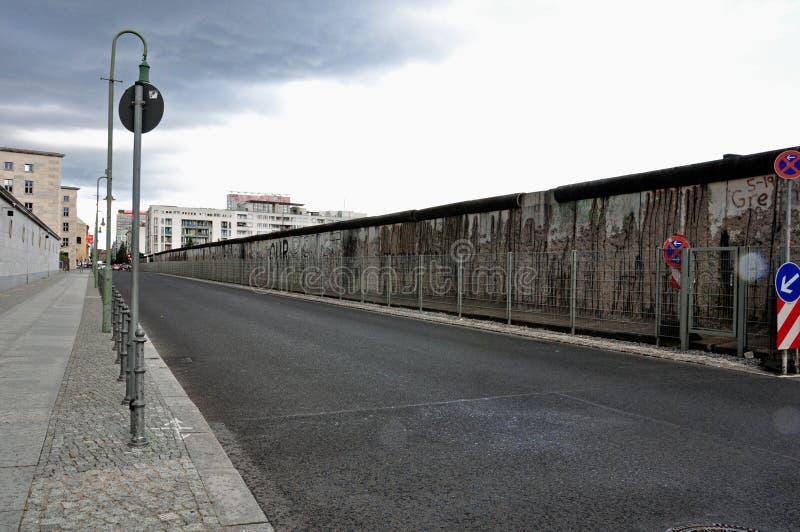 den berlin före detta wall nu arkivbild