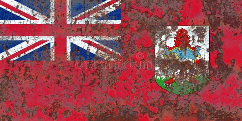 Den Bermuda grungeflaggan, brittiska utländska territorier, Britannien depen royaltyfri bild