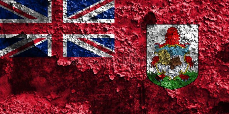 Den Bermuda grungeflaggan, brittiska utländska territorier, Britannien depen royaltyfri foto