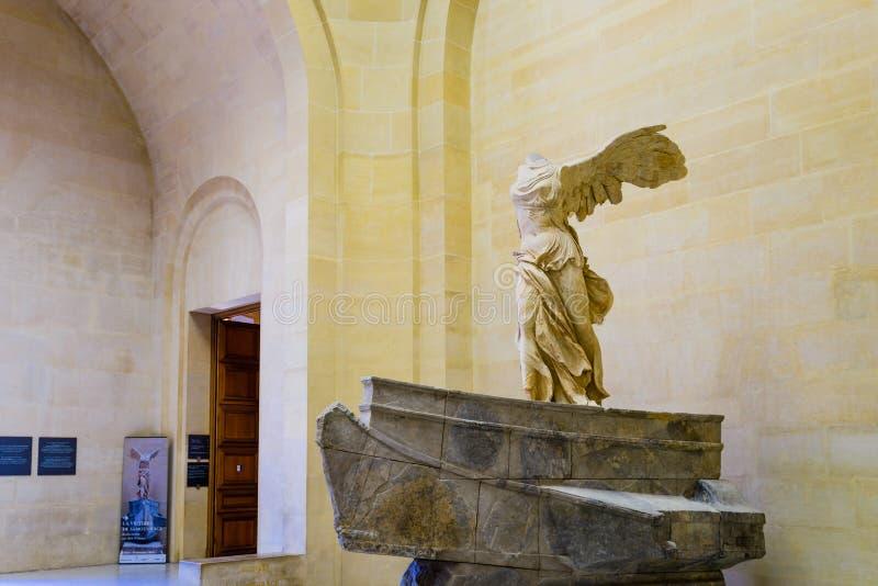 Den bevingade segern av Samothrace arkivbilder