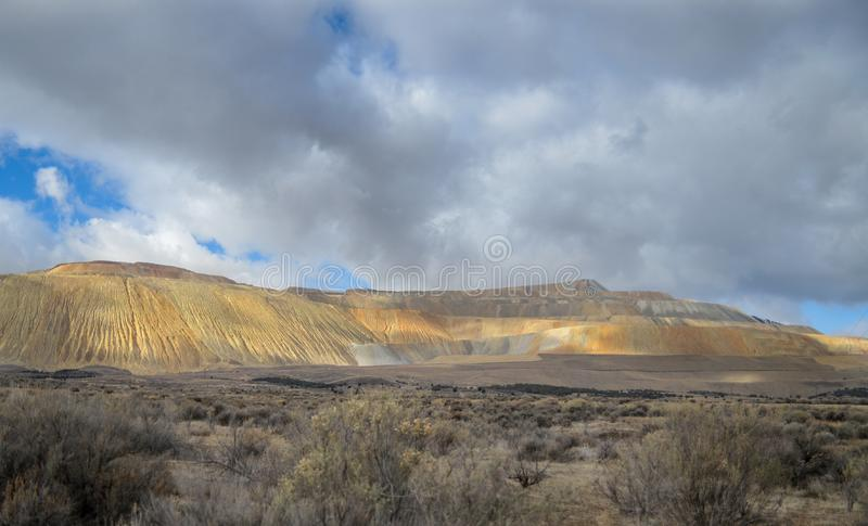 Den Bingham Canyon Mine Or Kennecott kopparminen fotografering för bildbyråer
