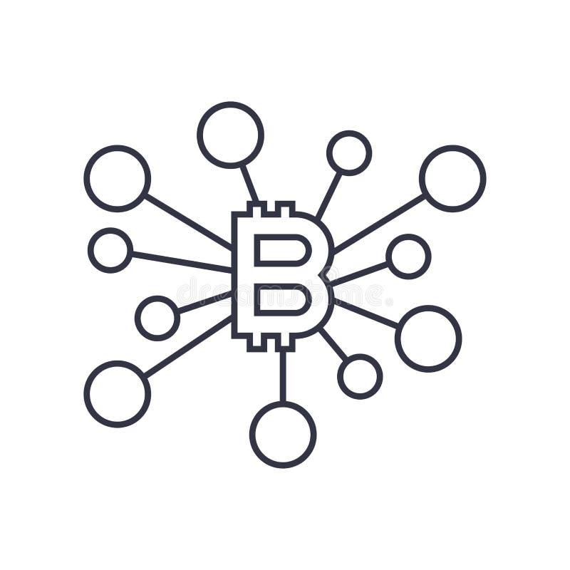 Den Bitcoin teckensymbolen f?r symbol f?r valuta f?r internetpengar crypto och myntet avbildar f?r att anv?nda i reng?ringsduk Re vektor illustrationer