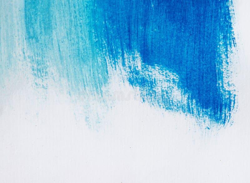 Den blåa akrylborsten slår, former och lutningar vektor illustrationer