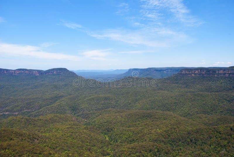 Den blåa bergnationalparken royaltyfria foton