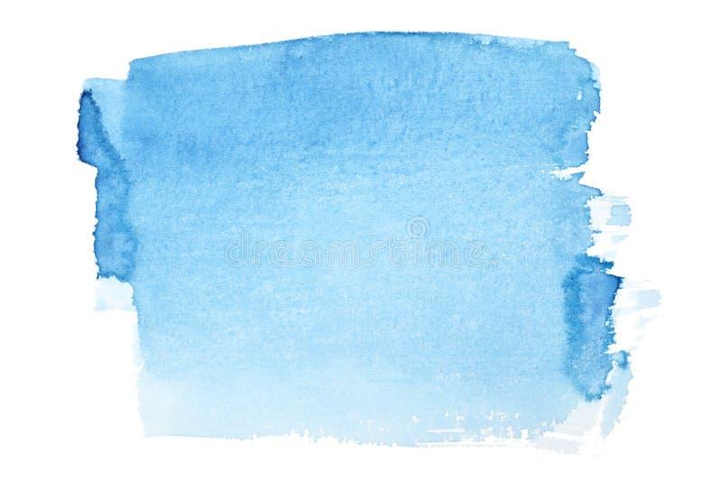 den blåa borsten strokes vattenfärg royaltyfri illustrationer