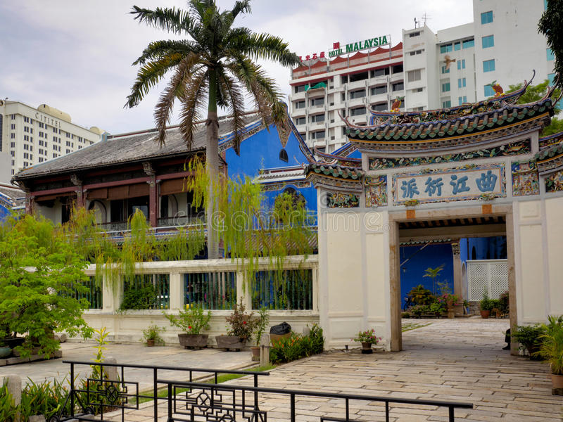 Den blåa herrgården i Penang, Malaysia royaltyfri fotografi