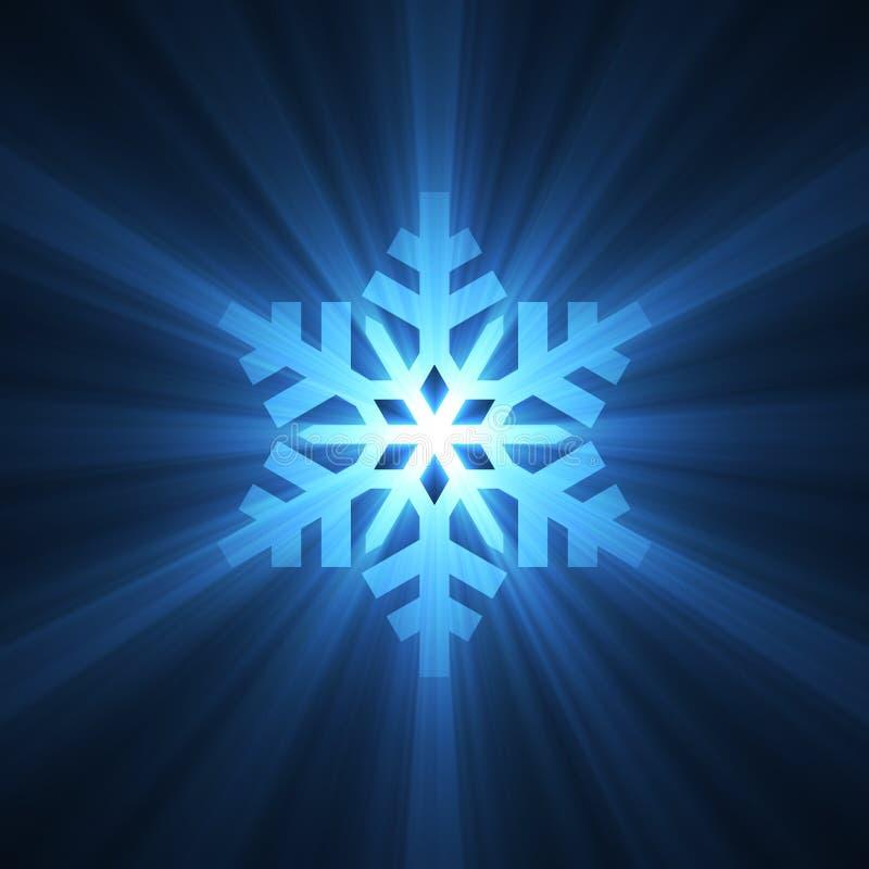 den blåa julen blossar den ljusa snowflaken royaltyfri illustrationer