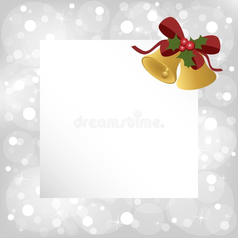 den blåa julen inramniner magi royaltyfri illustrationer