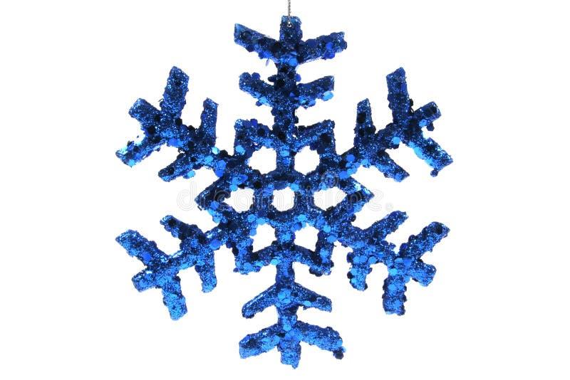den blåa julen smyckar snowflaken arkivbild
