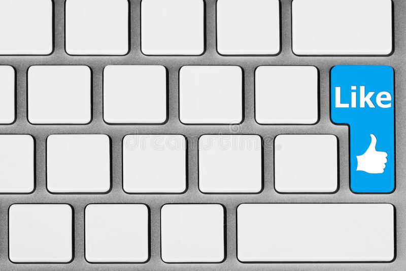 den blåa knappen like fotografering för bildbyråer