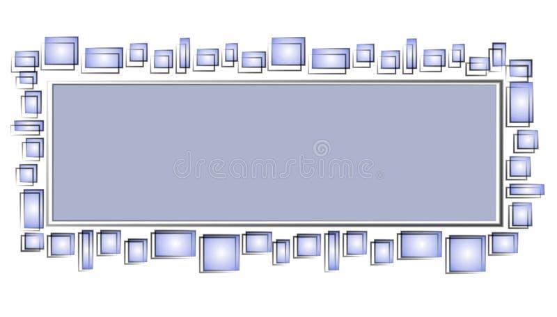 den blåa logosidan squares rengöringsduk royaltyfri illustrationer