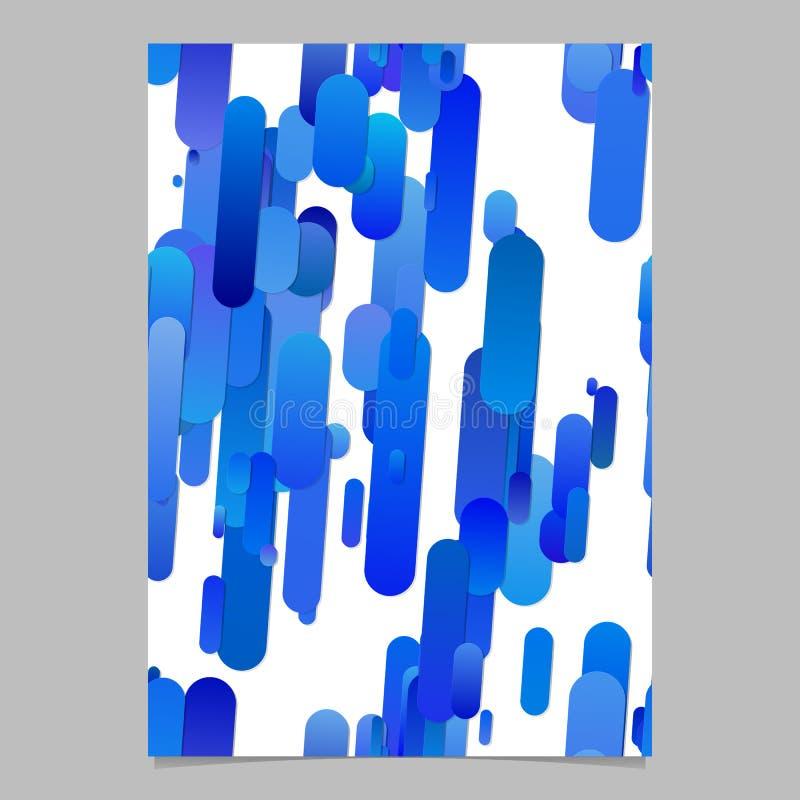 Den blåa moderna lutningen rundade mallen för bakgrund för bandmodellreklambladet royaltyfri illustrationer