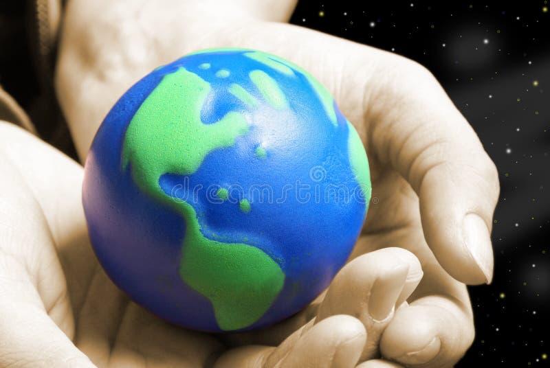 Den blåa planeten fotografering för bildbyråer