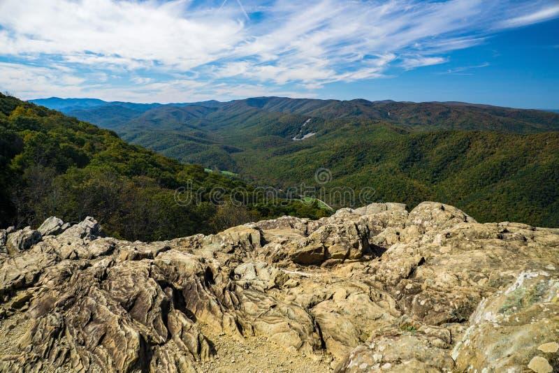 Den blåa Ridge Mountains från Raven Roost Overllok arkivfoton