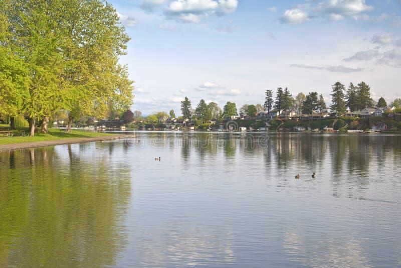 Den blåa sjön parkerar den Oregon staten royaltyfri bild