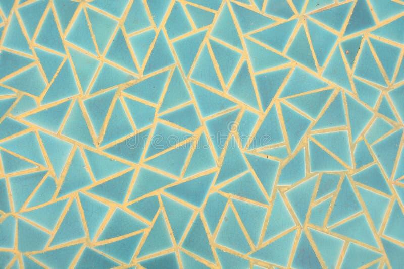 Den blåa triangelväggen royaltyfri bild