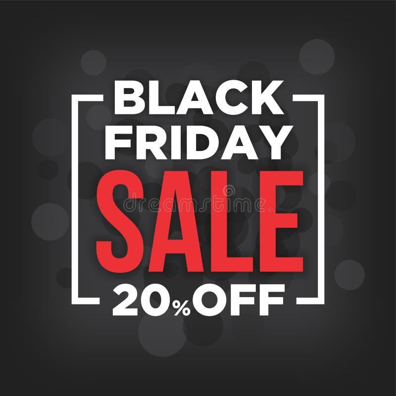 Den Black Friday försäljningen med grå färger bubblar bakgrund vektor illustrationer