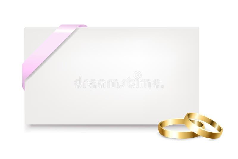 den blanka gåvan ringer etikettsbröllop vektor illustrationer