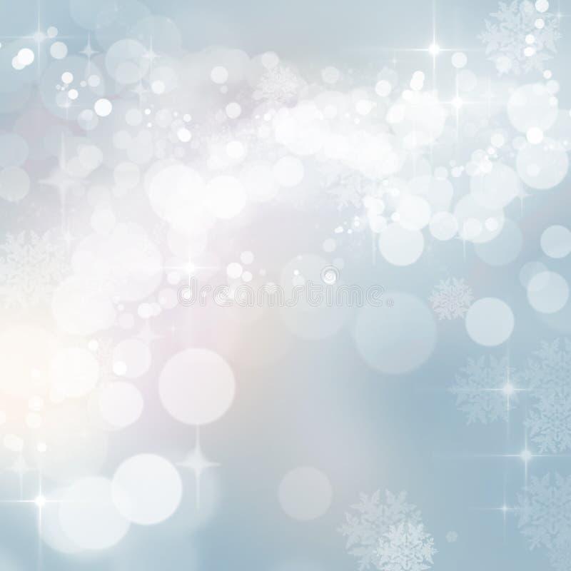 Den blinka julvintern tänder bakgrund royaltyfri fotografi