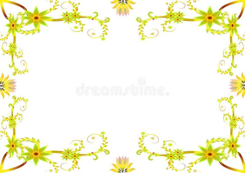 den blom- ramen inramniner serie vektor illustrationer
