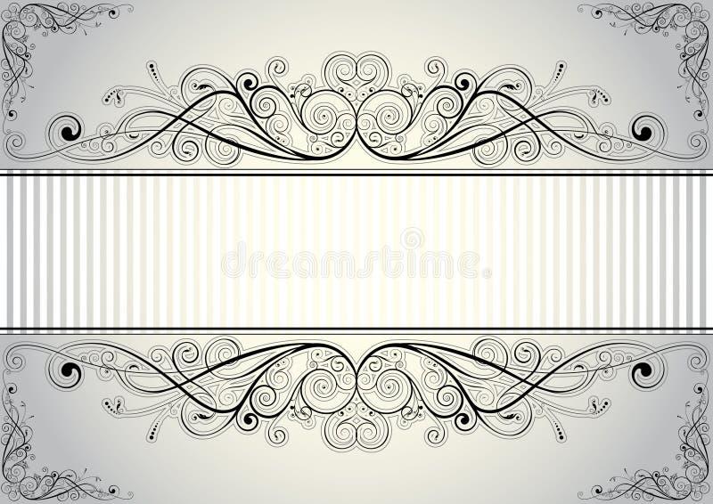 den blom- ramen inramniner serie stock illustrationer