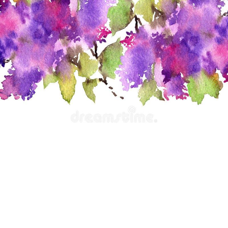 den blom- ramen inramniner serie Lila bukett författare blommar vattenfärg för I-målningsbild Bröllopinbjudandesign vektor illustrationer