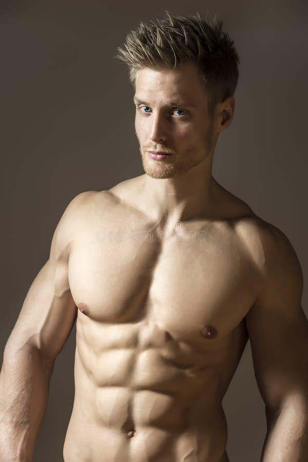 Blond athetic man royaltyfria foton