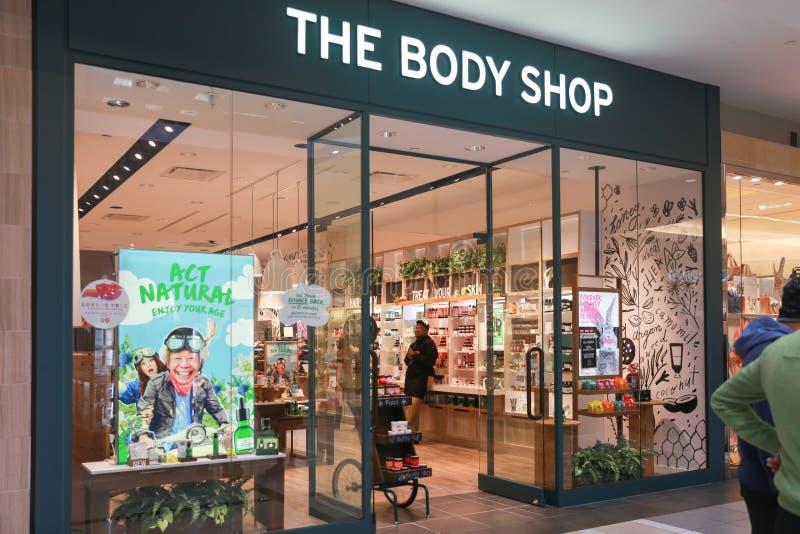 Den Body Shop lagerframdelen arkivfoton