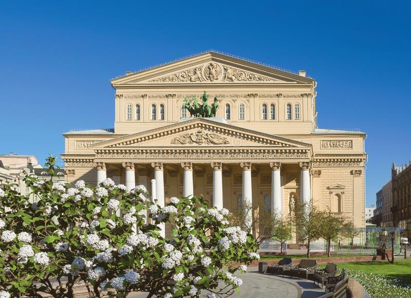 Den Bolshoi theatren moscow russia royaltyfri bild